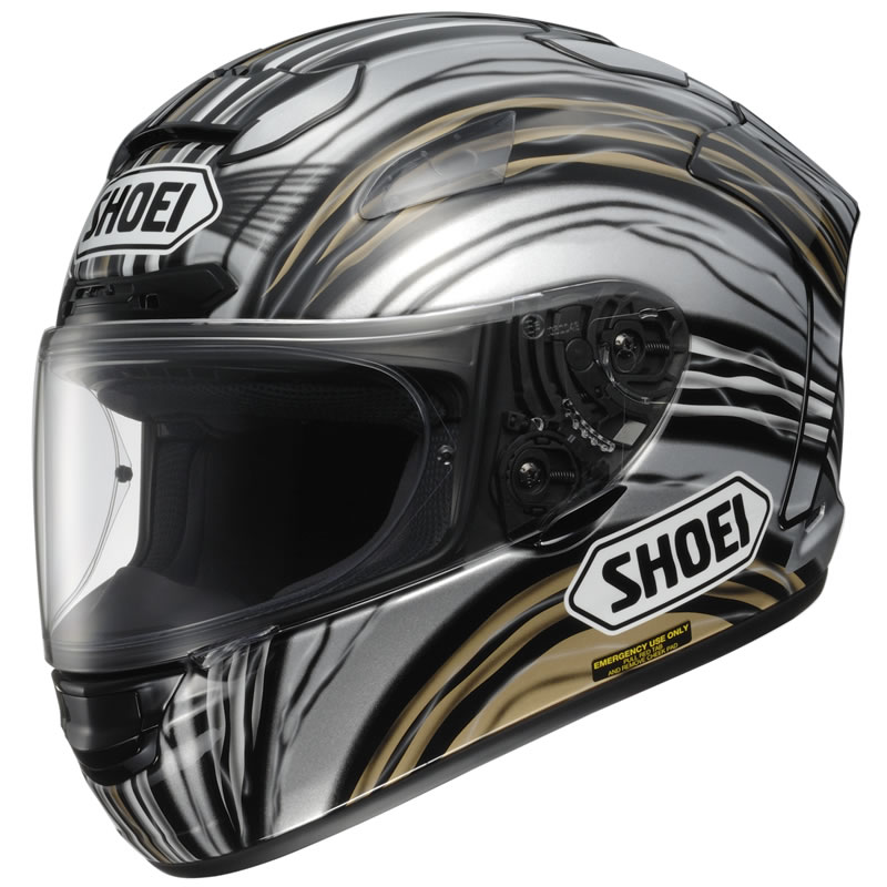 shoei x spirit 2 john mcguinness white gold black motorcycle helmet tc 9 race. Black Bedroom Furniture Sets. Home Design Ideas