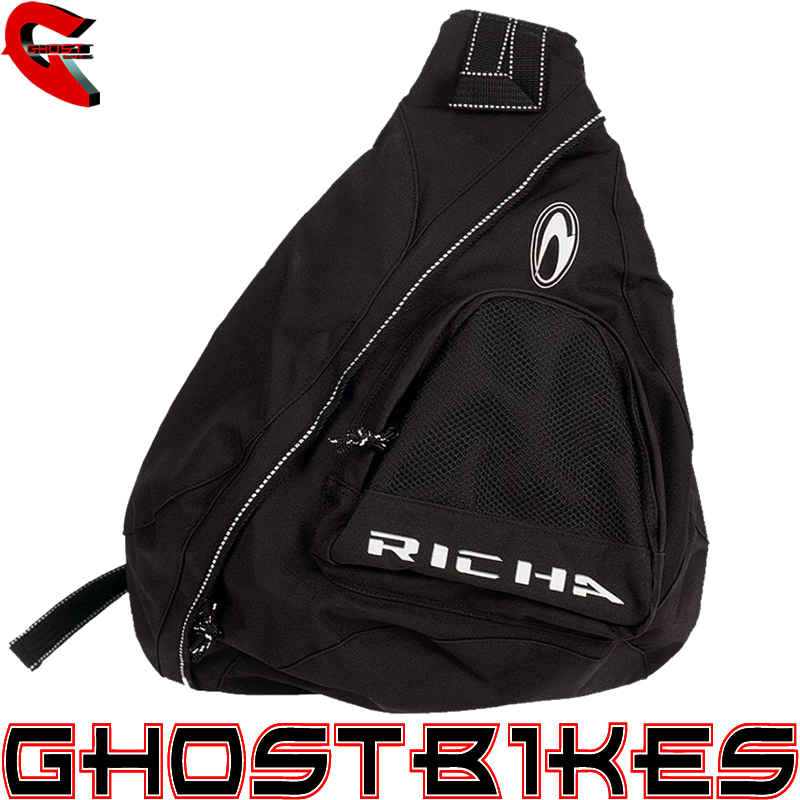 RICHA SINGLE PADBACK MOTORCYCLE RUCKSACK SLING MONO STRAP BAG TRI ...