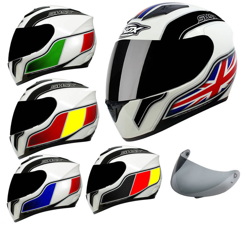 casque int gral shox axxis identity moto route avec visi re ebay. Black Bedroom Furniture Sets. Home Design Ideas