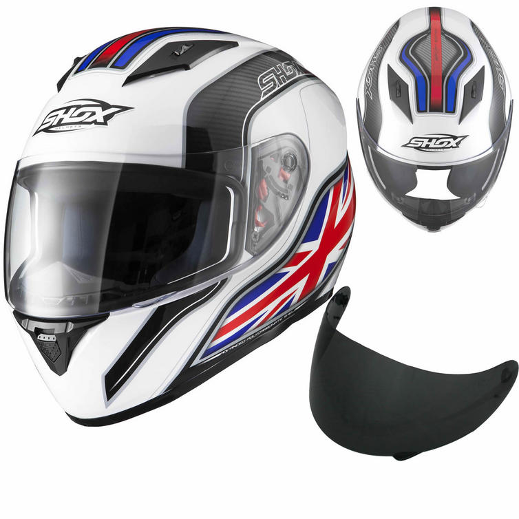 Shox Axxis Identity Helmet With FREE Tinted Visor