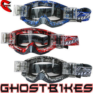 View Item Wulf Abstract Roll-off Racer Pack Motocross Goggles