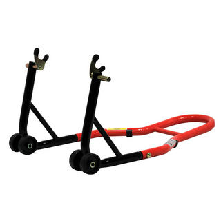View Item Black Pro Range Rear Paddock Stand (B5072 with Bobbin Hooks)