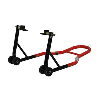 View Item Black Pro Range Rear Paddock Stand (B5073 with Rubber Cradle Cup Adaptors)
