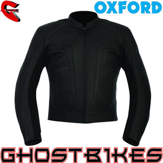 View Item Oxford Atom Leather Motorcycle Jacket