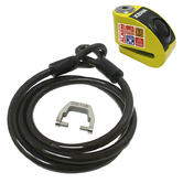 View Item Xena XZZ6 Motorcycle Disc Lock Alarm and Xena XZA150 Cable and Adapter