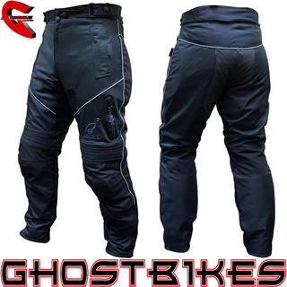 View Item Black Hazard Motorcycle Trousers