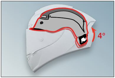 Shoei X-Spirit 3 Helmet Adjustable Crown Pad