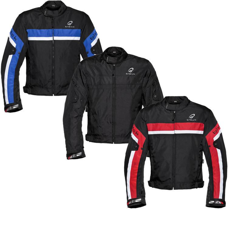 Black Argon Evo Motorcycle Jacket