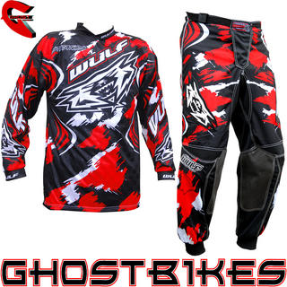 View Item Wulfsport Stratos 2013 Red Motocross Kit