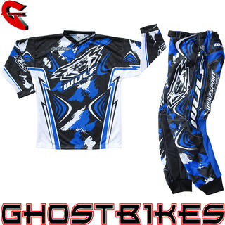 View Item Wulfsport Stratos 2013 Cub Blue Junior Motocross Kit