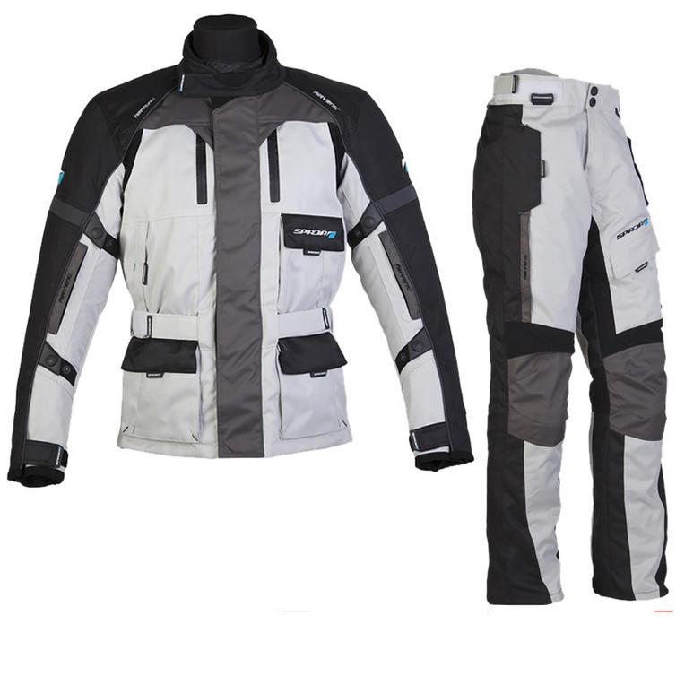Spada Explorer Jacket and Trouser Motorcycle Kit Grey