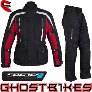 View Item Spada Core Jacket and Fineliner Trousers Kit Black Red