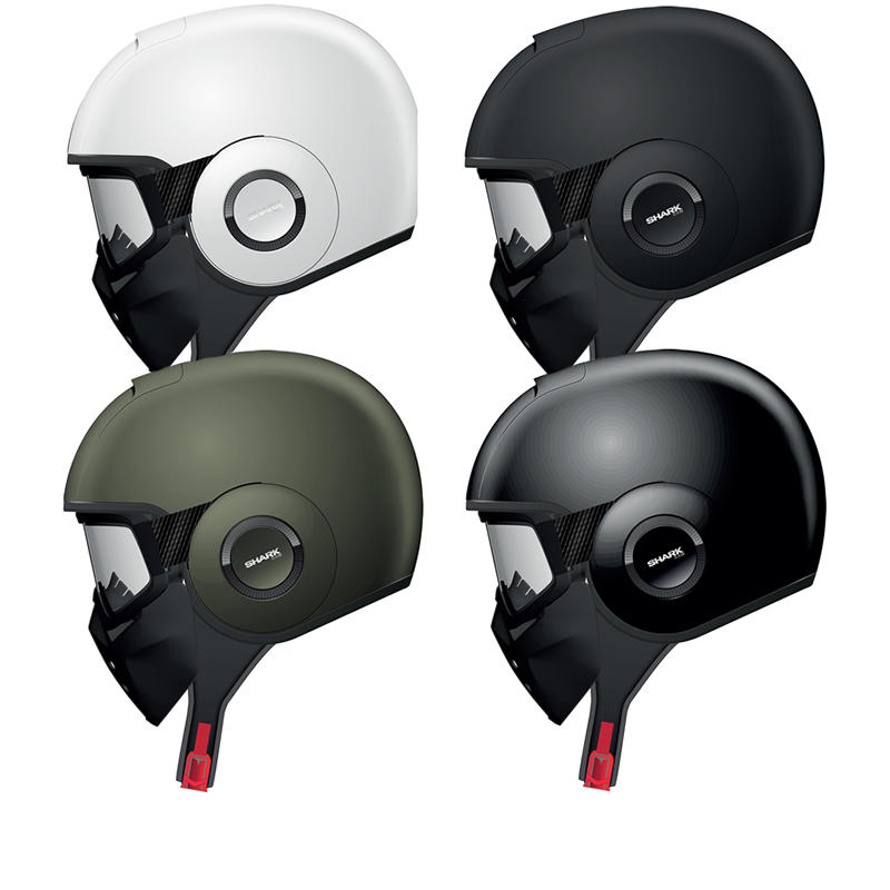 Shark Raw Blank Motorcycle Helmet + Free Balaclava + Neck Tube