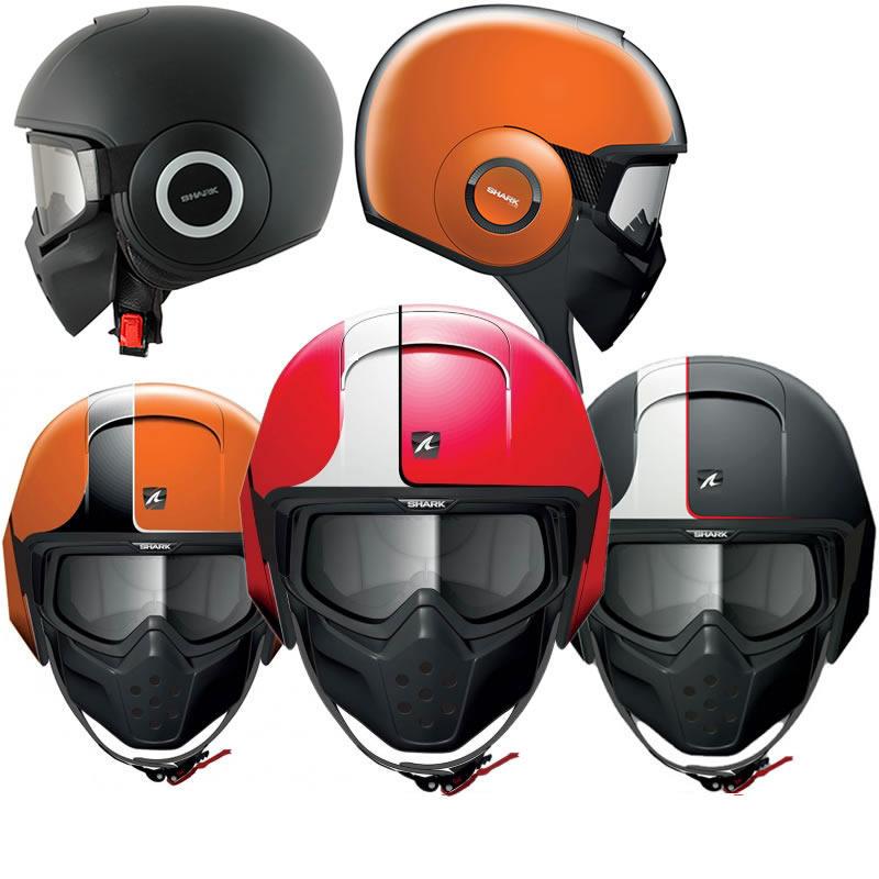 Shark Raw Stripe Motorcycle Helmet