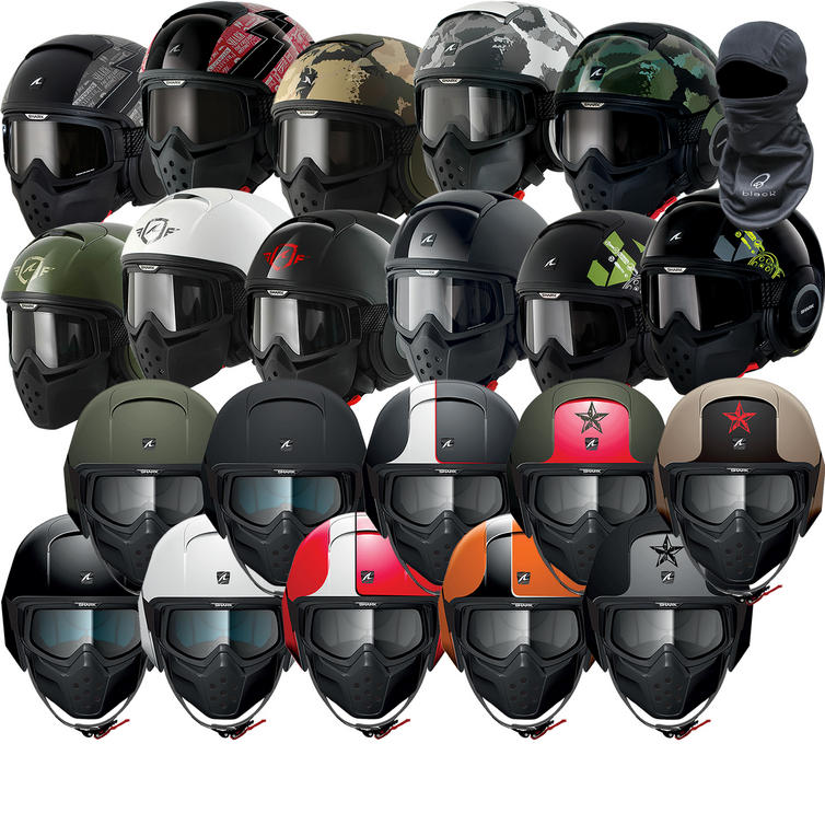 Shark Raw Motorcycle Helmet Plus Free Balaclava