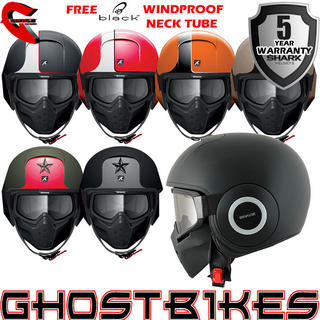 View Item Shark Raw Blank Motorcycle Helmet + FREE NECK TUBE
