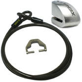 View Item Xena XX10 Motorcycle Disc Lock Alarm and Xena XXA150 Cable and Adapter