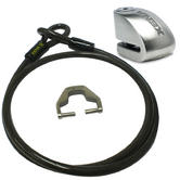 View Item Xena XX14 Motorcycle Disc Lock Alarm and Xena XXA150 Cable and Adapter