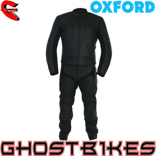 View Item Oxford Atom Leather Motorcycle Jacket & Trousers Kit