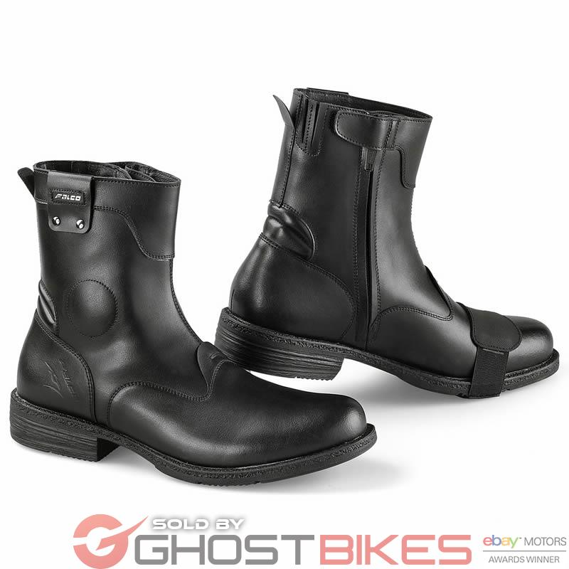 FALCO PEPPER 2 CITY WATERPROOF LEATHER MOTORCYCLE CASUAL CRUISER ...