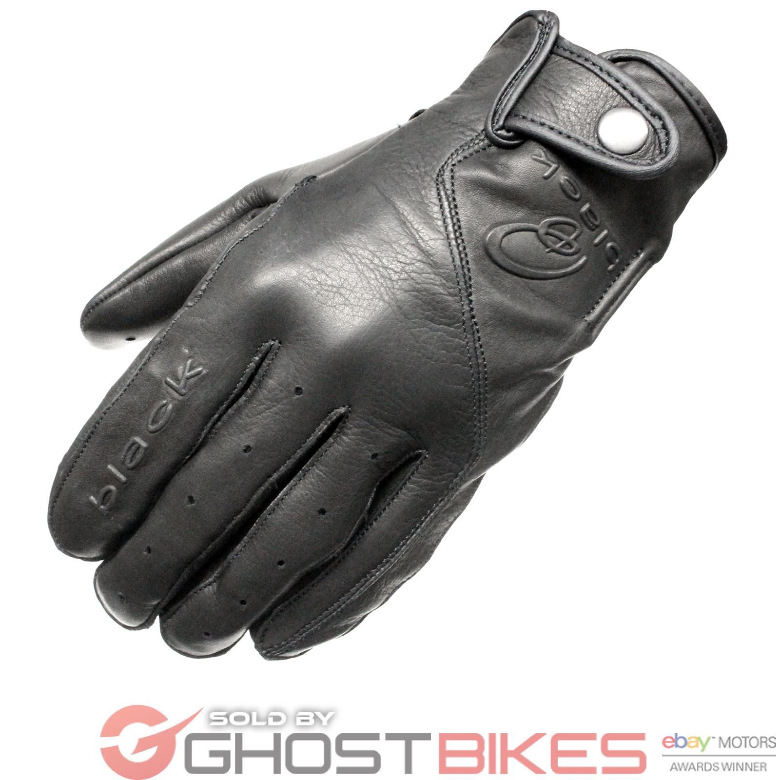 Leather driving gloves on ebay - Image Is Loading Black Static Leather Classic Vintage Fashion Motorcycle Bike