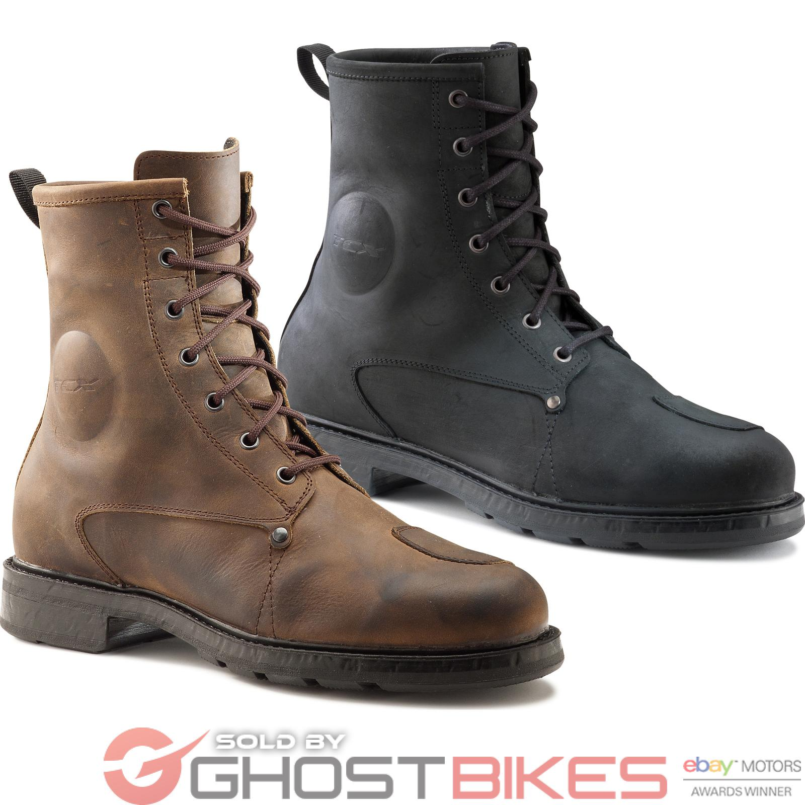 TCX X-Blend WP Motorcycle Boots Waterproof Vintage Leather Urban All Sizes Shoes