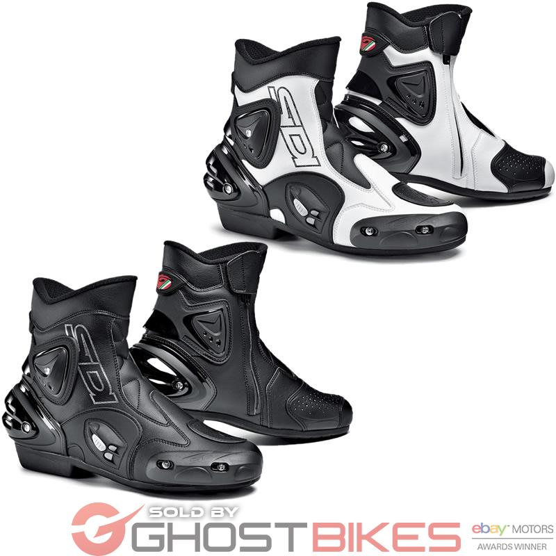 SIDI APEX SHORT PADDOCK MOTORBIKE MOTORCYCLE ANKLE STREET BIKE ROAD BOOTS