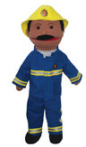View Item FIRE PERSON TOY PUPPET DRESSING-UP CLOTHES NEW