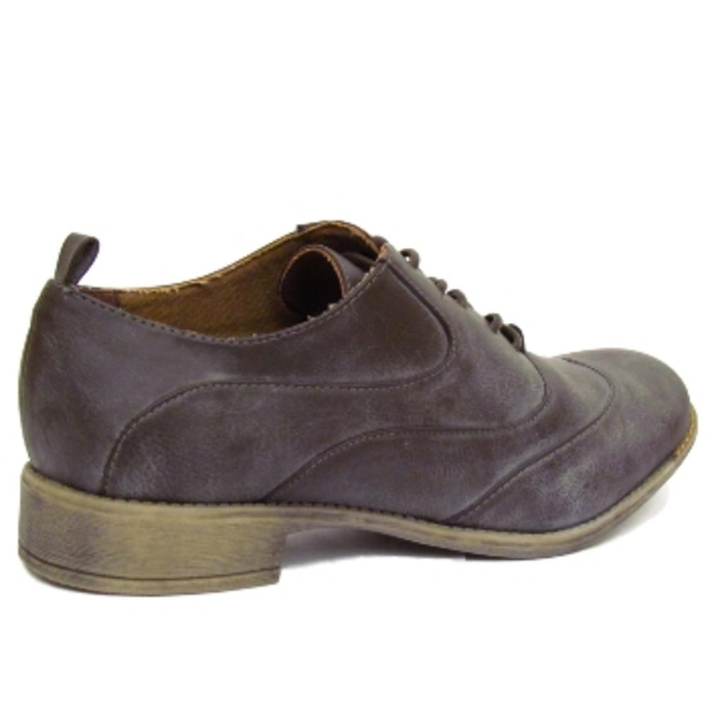 womens brown lace up oxford brogue retro shoes