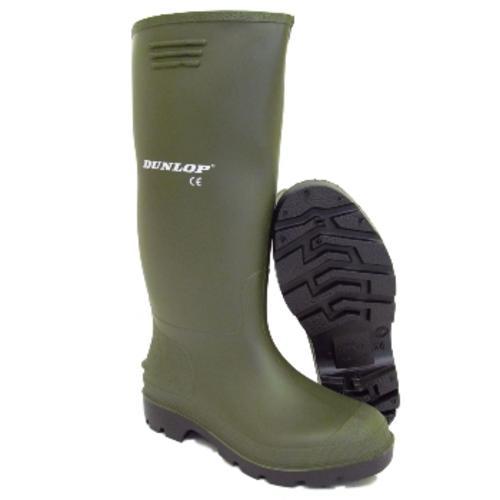 Mens Dunlop Green Wellingtons Wellies Boots Size 6 12 Ebay