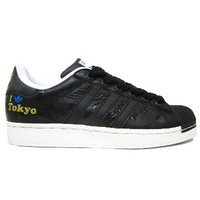View Item ADIDAS SUPERSTAR II 2 CITY Ve BLACK TRAINERS