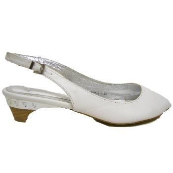 new white peep toe kitten heel slingback shoes size 3 8
