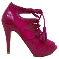 View Item PINK SNAKESKIN GLADIATOR ROMAN PLATFORM SHOES SIZE 3-8