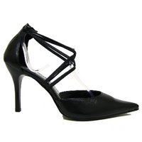 View Item WOMENS NEW BLACK POINTY LADIES COURT SHOES SIZE UK 3-8