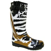 View Item NEW FUNKY ZEBRA WELLIES WELLINGTON RAIN BOOTS SIZE 3-8