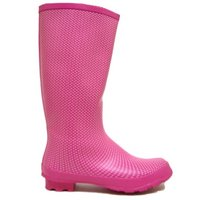 View Item PINK MICRO DOT WELLIES WELLINGTON RAIN BOOTS SIZE 3-8