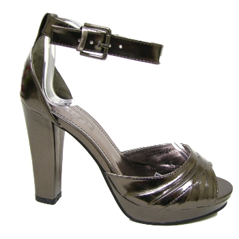 new pewter peep toe platform sandals shoes size uk 3 8 buy
