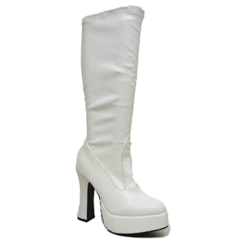 new white platform knee high go go boots size uk 4 11 buy