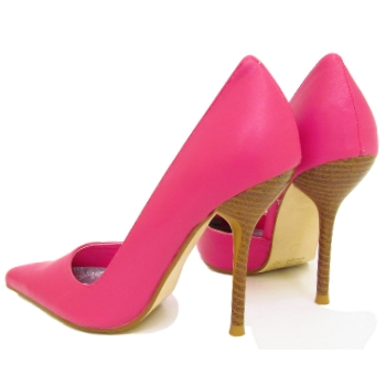 womens fuschia pink pointy court shoes sizes 3 8