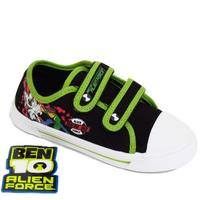 View Item BOYS KIDS BEN 10 VELCRO CANVAS PUMPS SHOES SIZE 8-1