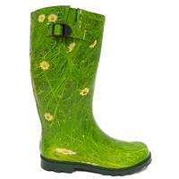 View Item GREEN DAISY WELLIES WELLINGTON FESTIVAL BOOTS SIZE 3-8