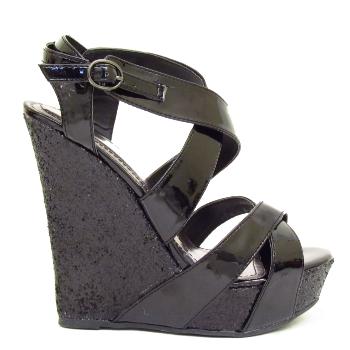 black glitter platform wedge shoes sizes 3 8 buy