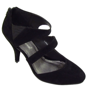black strappy zip up court shoes size 3 8 buy