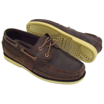 mens brown timberland kia wah bay leather deck boat lace