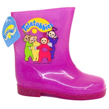KIDS GIRLS PINK CHILDRENS TELETUBBIES WELLIES WELLINGTON NEW RAIN BOOTS SIZE 5-9 Preview