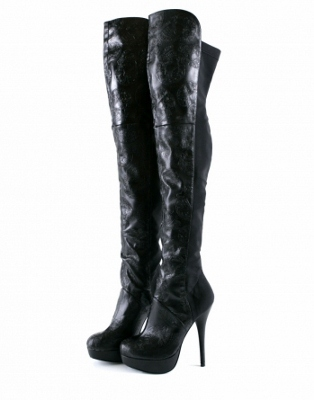 boots iron black manslayer womens