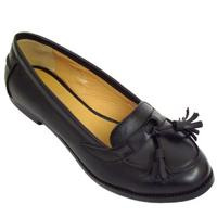 View Item WOMENS BLACK COMFORT LOAFERS LADIES SECRETARY SHOES SIZE 3-8
