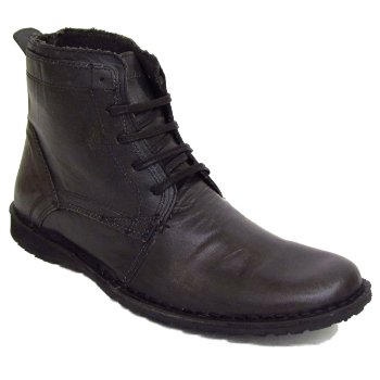 mens black leather army lace up combat boots size
