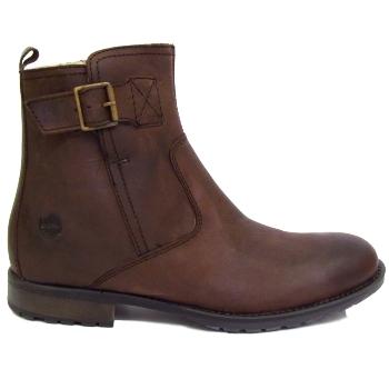 mens brown ikon gamma leather zip up dealer buckle ankle