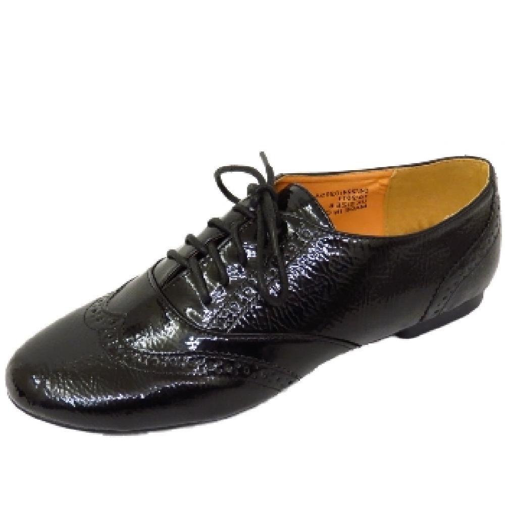 Womens flat black shoes - Flats : Mince